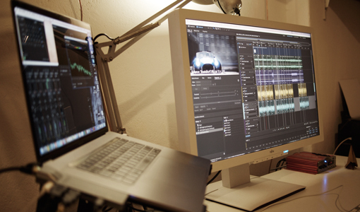 Voicekraft post production workstation in Berlin closeup